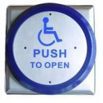 Asec All Active Large Push Plate Exit Button