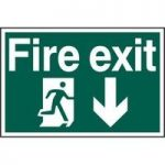 """ASEC """"Fire Exit"""" 200mm x 300mm PVC Self Adhesive Sign"""