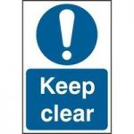"""ASEC """"Keep Clear"""" 200mm x 300mm PVC Self Adhesive Sign"""
