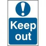"""ASEC """"Keep Out"""" 200mm x 300mm PVC Self Adhesive Sign"""