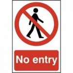 """ASEC """"No Entry"""" 200mm x 300mm PVC Self Adhesive Sign"""