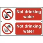 """ASEC """"Not Drinking Water"""" 200mm x 300mm PVC Self Adhesive Sign"""