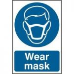"ASEC ""Wear mask"" 200mm x 300mm PVC Self Adhesive Sign"