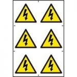 ASEC Electrical Warning Symbol 200mm x 300mm PVC Self Adhesive Sign
