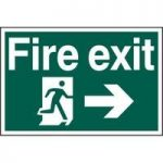 """ASEC """"Fire Exit"""" 400mm x 600mm PVC Self Adhesive Sign"""