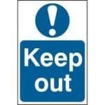 """ASEC """"Keep Out"""" 400mm x 600mm PVC Self Adhesive Sign"""